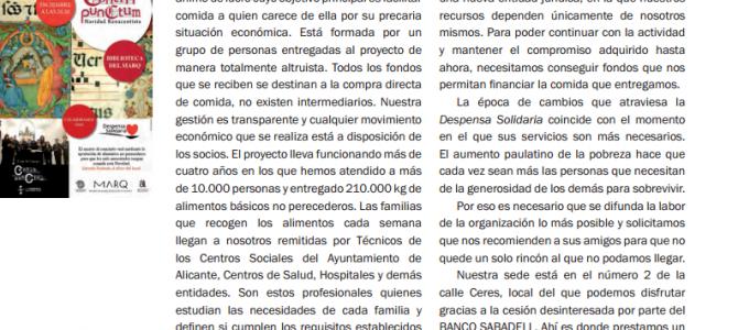 Despensa Solidaria en el Boletín Cultural Informativo JubiCAM