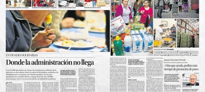 «Donde la Administración no llega» análisis de la pobreza en Alicante en Diario Información