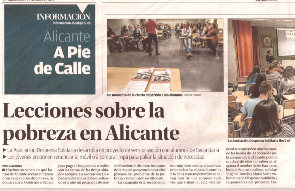 Lecciones de la pobreza en Alicante