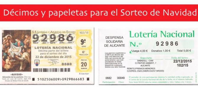 Lotería de Navidad solidaria a beneficio de Despensa Solidaria