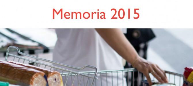 Presentamos nuestra Memoria 2015