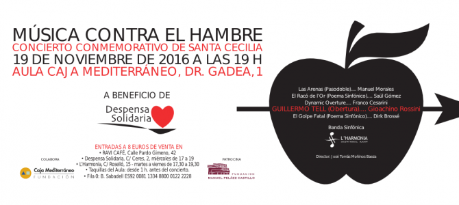 """Música contra el hambre"" – L'Harmonia a beneficio de Despensa Solidaria"