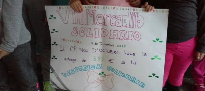 VIII Mercadillo Solidario en el CP NOU D'OCTUBRE