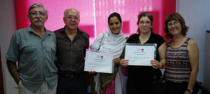 Clausura del Curso de Español y entrega de Diplomas