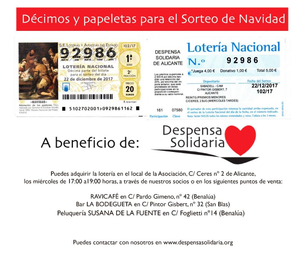 Cartel Lotería 2017