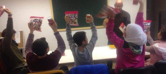 Clases de alfabetización para niños refugiados