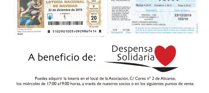 Lotería de Navidad a beneficio de Despensa Solidaria Alicante